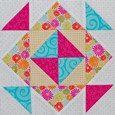 Be Happy Pieced Block 3