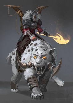 The Beastmaster, Josh Corpuz on ArtStation at https://www.artstation.com/artwork/the-beastmaster: