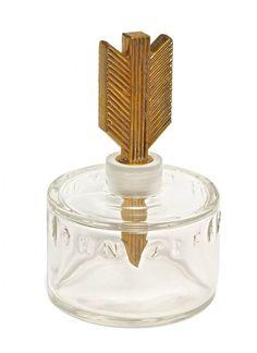 1935 John Frederics Golden Arrow perfume bottle.