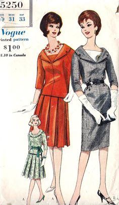 1960s Misses One Piece or Two Piece Dress