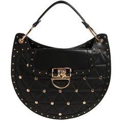 Balmain Women Medium Quilted Leather Bag W/ Studs ($2,640) ❤ liked on Polyvore featuring bags, handbags, shoulder bags, balmain, black, locking purse, studded purse, quilted leather purse, balmain purse and kiss-lock handbags