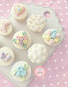 Cupcakes decoration girly desserts 57 new ideas Fancy Cupcakes, Floral Cupcakes, Easter Cupcakes, Wedding Cupcakes, Valentine Cupcakes, Mocha Cupcakes, Gourmet Cupcakes, Strawberry Cupcakes, Velvet Cupcakes