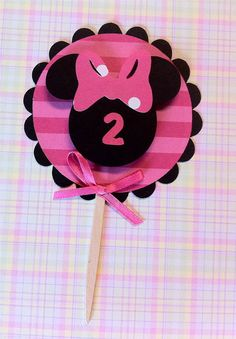Minnie cupcake toppers!