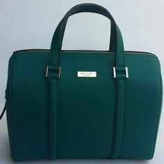"""Host Pick Kate Spade Cassie Saffiano Leather Bag Gorgeous Deep Emerald in durable Saffiano leather, gold plated hardware, lined in b&w quilted look fabric, zip top closure with leather zipper pull, inside zip & 2 multifunction pockets, double 4.5"""" drop handles, removable 49"""" shoulder strap, Kate Spade license plate front, guaranteed authentic, new with tags. No trades, price firm. Love this color!! kate spade Bags"""