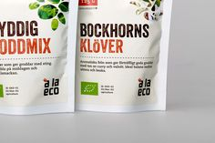 à la eco organic bean sprouts — The Dieline - Package Design Resource