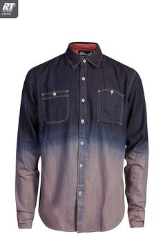 Mens Ombre Denim Shirt | Shirts  #Ombre #Degrade #menstyle Follow my #Menswear Pinboards! www.eff-style.com