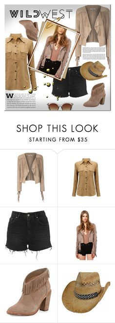 """WILD WEST"" by pamelica ❤ liked on Polyvore featuring Glamorous, Topshop, Akira Black Label, Joie, Icon Eyewear and wildwest"