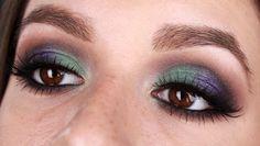 Summer Nights - Ojos ahumados con morado y verde    Ruboradero