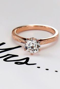 27 Rose Gold Engagement Rings That Melt Your Heart ❤️ See more: http://www.weddingforward.com/rose-gold-engagement-rings/ #wedding