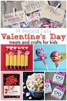 14 Beyond Easy Valentine's Day Treats and Crafts for Kids!
