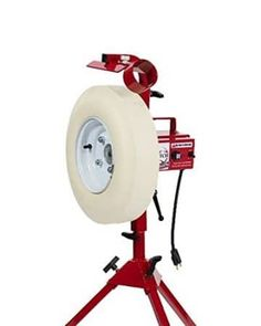 Video Demo Here > First Pitch Baseline Pitching Machine For Baseball & Softball & Fastpitch NEW! Softball Pitching Machine, Baseball Pitching, Baseball Training, Clemson Baseball, Baseball Field, Batting Cage Backyard, Baseball Invitations, Bats For Sale, Backyard Baseball