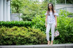 Valentina and Aveline: How To Wear White Jeans In Summer