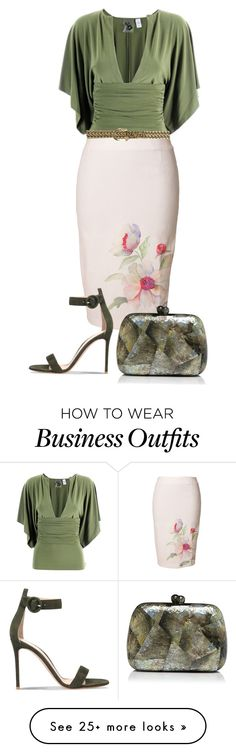 """Untitled #3445"" by rkdk1101 on Polyvore featuring Norma Kamali, Ralph Lauren, Gianvito Rossi and Serpui"