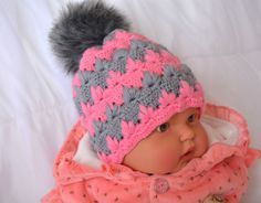 Crochet a Pretty Winter Hat | Guidecentral (no hook or yarn size listed)
