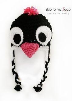 Penguin Hat  Crochet Pattern  Penguin Costume  by skiptomyloop, $3.99