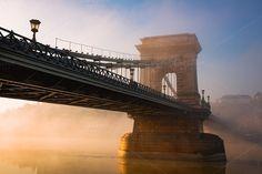 Budapest chain bridge by MuzzyPhoto on @creativemarket