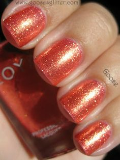 Goose's Glitter: Zoya Rica and Tanzy: Swatches and Review