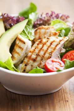 Grilled Chicken and Corn Salad With Avocado and Parmesan