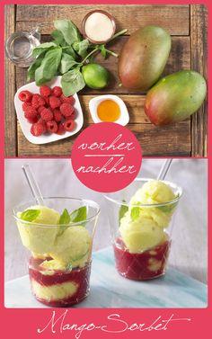 http://eatsmarter.de/rezepte/mango-sorbet – Der Clou im erfrischend-fruchtigen Eisdessert: Basilikum