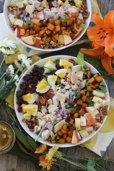#paleomg #paleo Fall Harvest Chopped Salad with Apple Maple Vinaigrette