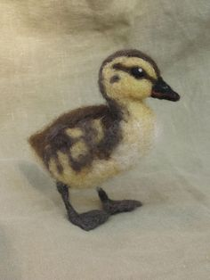 Needle felted duckling life sized baby bird by Ainigmati on Etsy, $75.00