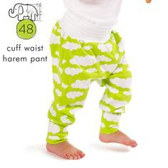 Pdf sewing pattern download for baby and toddler harem pants with a cuff waist and ankles These are an easy sew and super comfortable fit!