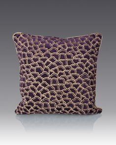 Scallop Pattern Pillow by Jay Strongwater at Neiman Marcus.