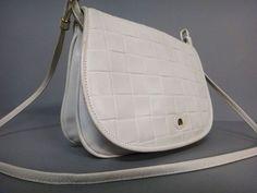 Vintage Handtaschen - 1980's Handtasche Leder weiß - 13,90 Euro