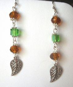 Beautiful Fall Earrings                      HopesandDreamsStudio - Jewelry on ArtFire
