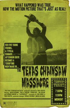 The Texas Chainsaw Massacre 11x17 Movie Poster by TrevorDunt, $20.00