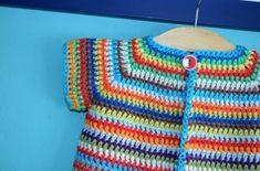 Gratis haakpatroon kleurrijk babyvestje – free crochet pattern colourfull baby cardigan | Vicarno