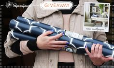 Check out this week's giveaway from Spoonflower-- a chance to win 3 rolls of custom printed wallpaper!