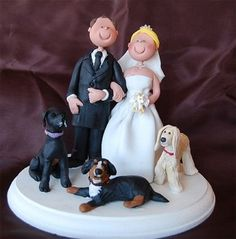 Custom Wedding Cake Toppers With Dogs