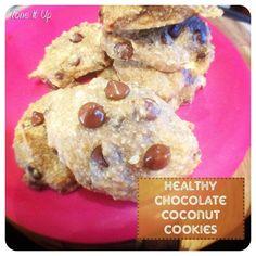 healthy chocolate coconut cookies