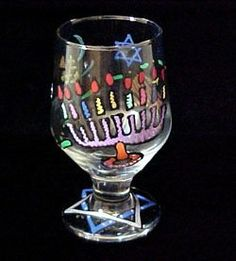 Hanukkah Happiness Design - Hand Painted -High Ball - All Purpose Glass - 10.5 oz. by BELLISSIMO! HAND PAINTED GLASSWARE. $24.95. Every product is thoroughly inspected to meet our strict quality control criteria, and then fired twice to insure durability.. Highly collectible, each piece of Bellissimo! is individually signed by the artist.. For generations of pleasure and enjoyment, hand washing is recommended for all Bellissimo! merchandise.. Bellissimo! is the manufactur...