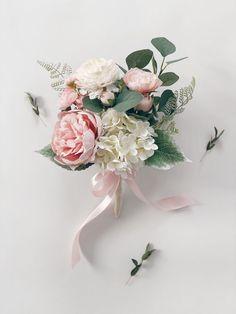 Pink Flower Bouquet, Peony Bouquet Wedding, Bridal Bouquet Pink, Blush Wedding Flowers, Peonies Bouquet, Small Bouquet Of Flowers, Green Wedding, Light Pink Bouquet, Blush Bouquet