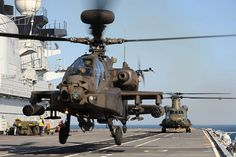 Army Apache & Chinook Helicopters Practice Deck Landings ♥ !!