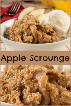 Highlight the taste of fresh apples with this yummy Apple Scrounge recipe.