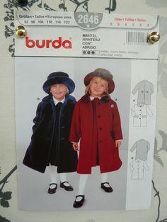 Patron BURDA de manteau pour enfant : Patrons par ninnanne