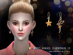 new earring for female sims, you can find it in accessories---earring , 5 colors inside. Found in TSR Category 'Sims 4 Female Earrings'