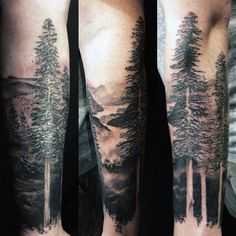 Nature Tattoo On Forearm