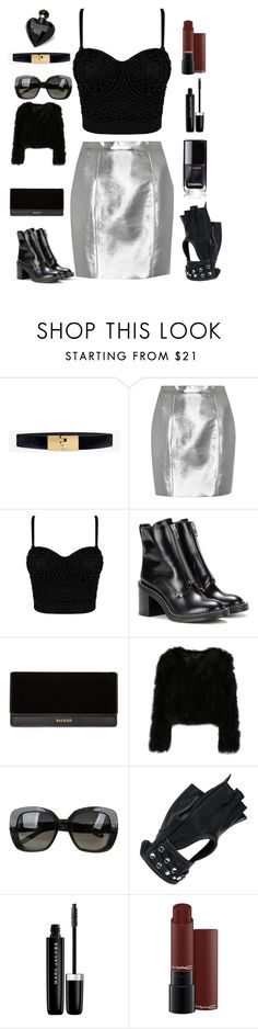 """Dark red lipstick"" by jsnop ❤ liked on Polyvore featuring White House Black Market, Yves Saint Laurent, rag & bone, Balmain, Bottega Veneta, Wilsons Leather, Marc Jacobs and Lipsy"