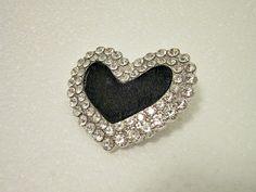 Valentine Vintage Heart Pendant black by Timelesspeony on Etsy