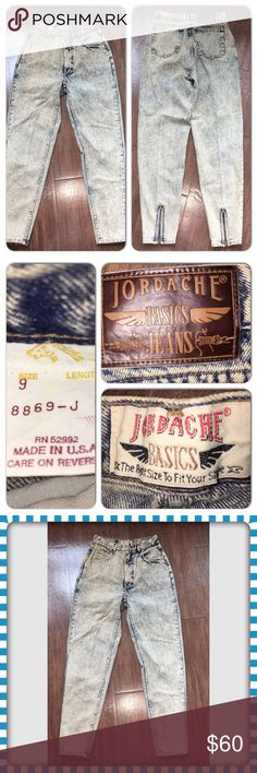 Vintage Jordache Acid Washed High Waist jeans Kelly Kapowski Saved By the bell Jeans. measurements are in the pictures. These jeans are in superb condition. jordache Jeans Ankle & Cropped