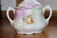 Vintage Leuchtenburg Germany china sugar bowl with lid by StonesThrowTreasures on Etsy