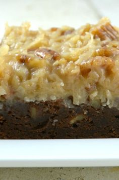 Chocolate Brownies German Chocolate Brownie these are incredible! This recipe has an extra thick layer of Pecan Coconut FrostingGerman Chocolate Brownie these are incredible! This recipe has an extra thick layer of Pecan Coconut Frosting German Chocolate Brownies, Chewy Brownies, Chocolate Truffles, Chocolate Frosting, Frosted Brownies, Lemon Brownies, Cheesecake Brownies, Chocolate Chocolate, Chocolate Cheesecake