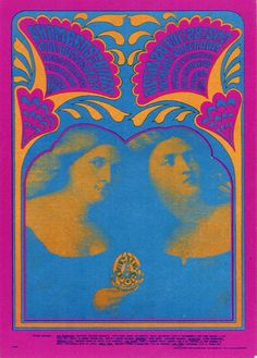 Victor Moscoso, 1967 - Chambers Brothers, Iron Butterfly, Avalon Ballroom, San Francisco