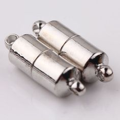 5 Silver Plated Metal Strong Magnetic Necklace Clasps. Brand new.