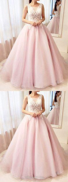 Pink Prom Dresses Long, Ball Gown Prom Dresses For Teens, Modest Prom Dresses Tulle, 2019 Prom Dresses Lace Junior Prom Dresses, Prom Dress Stores, Prom Dresses For Teens, Pink Prom Dresses, Prom Dresses Online, Cheap Prom Dresses, Prom Ballgown Dresses, Dress Prom, Bridal Dresses