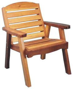 Red Cedar Deck Chair traditional-outdoor-chairs